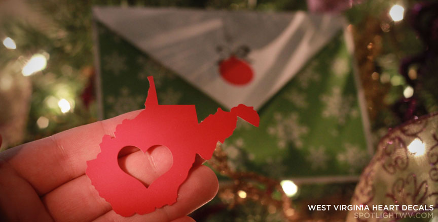 West Virginia Heart Decal