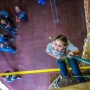 Climbing at Outside-In Climbing Gym